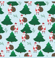 christmas pattern with color doodle elements vector image vector image