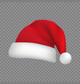 christmas santa claus hat isolated vector image vector image