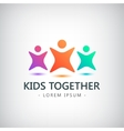 colorful kids logo children friendship vector image vector image