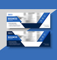 corporate blue banner design for your business vector image vector image