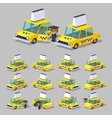 Cube World Yellow taxi vector image vector image