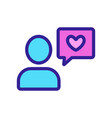 dating date meeting icon isolated contour vector image vector image