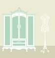 dressing room vintage vector image