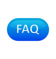 faq button icon blue color seal label for giving vector image