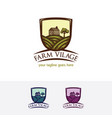 farm village logo design vector image vector image