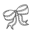 festive bow icon doodle hand drawn or outline vector image