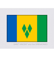 Flag of Saint Vincent and the Grenadines 2 to 3 vector image vector image