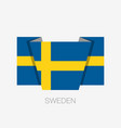 flag of sweden flat icon waving flag with country vector image vector image