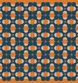geometric pattern in orange pink and dark blue vector image vector image
