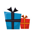 gift boxes cartoon isolated vector image vector image