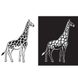 giraffe black and white background vector image