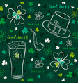 green seamless background for patricks day vector image