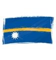 Grunge Nauru flag vector image vector image
