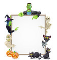 halloween sign background vector image vector image