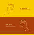 hand holding coffee cup vector image