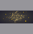 happy new year russian calligraphy with golden vector image vector image