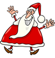 happy santa claus cartoon vector image vector image