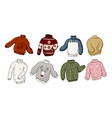 hipster sweaters set vector image vector image
