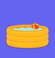 inflate backyard pool baby plastic flat vector image vector image