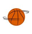 isolated basketball ball spinning around vector image