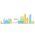 istanbul cityscape - landmarks and sights vector image