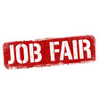 job fair sign or stamp vector image