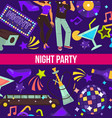 night party dancing club disco ball and hookah vector image vector image