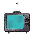 old tv retro icon vector image vector image