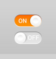 On and off toggles concept