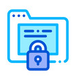 padlock site coding system thin line icon vector image