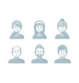 people cartoon avatars collection set creative vector image