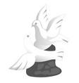 porcelain doves souvenir toy in a flat design vector image