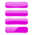 purple glass buttons oval 3d icons with vector image