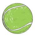 retro tennis ball vector image vector image
