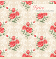 roses floral seamless pattern vector image vector image