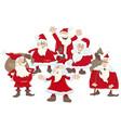 santa claus group cartoon vector image vector image