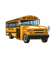 school bus yellow cartoon vehicle vector image