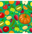 Seamless harvest fruits and vegetables vector image vector image