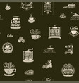 seamless pattern on theme coffee vector image