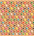 seamless pattern with color pencils vector image vector image