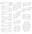 set contours ribbons vector image