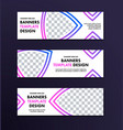 set of white banners with place for photo and vector image vector image