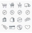 sketch icon set vector image