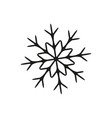 snowflake in winter icon vector image vector image