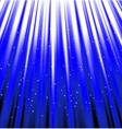 stars are falling on the background of blue rays vector image