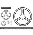steering wheel line icon vector image vector image
