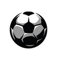 stylish soccer ball on a white background vector image vector image