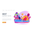 swim camp concept landing page vector image vector image