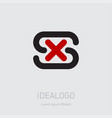 sx - design element or icon initial monogram vector image vector image