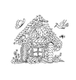 Tropical house sketch for your design vector image vector image